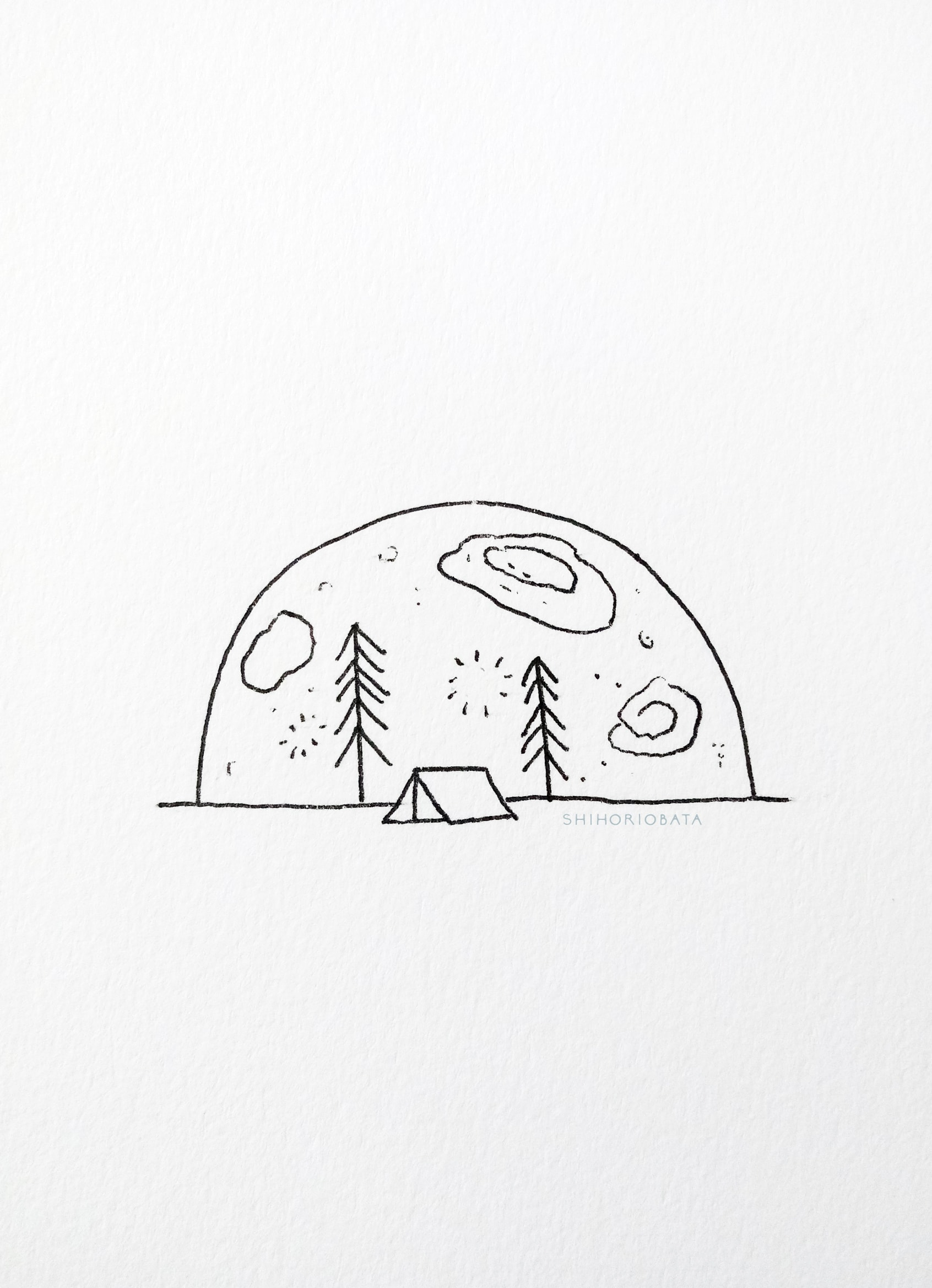 Rising Moon Drawing - Easy Creative Drawing Ideas