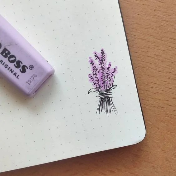 Lavender Flower Drawing