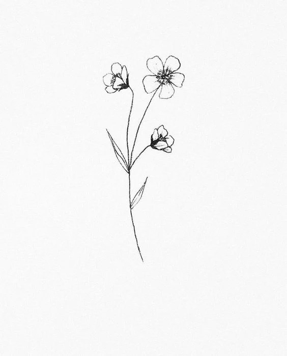 Small Flower Drawing