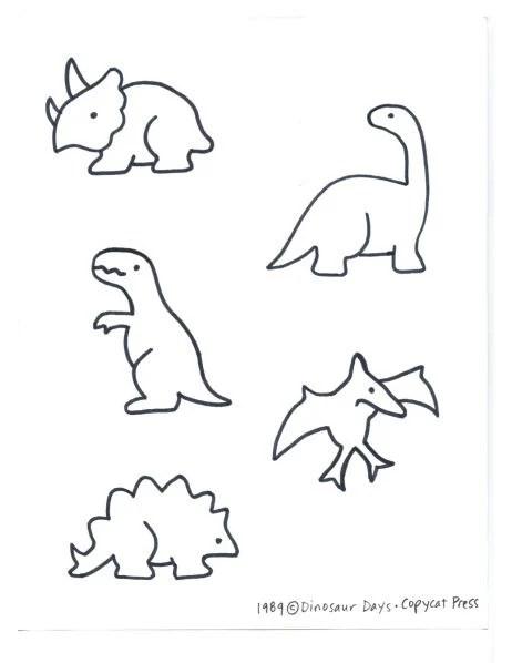 Simple Easy Dinosaur Drawing ideas