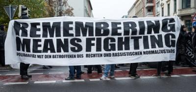 Demonstration gegen rechte Gewalt und Rassismus
