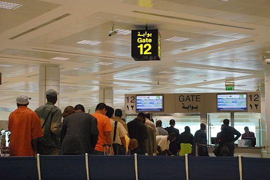 2010年5月7日 カタール、ドーハ国際空港にて