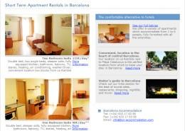 Barcelona Accommodation website