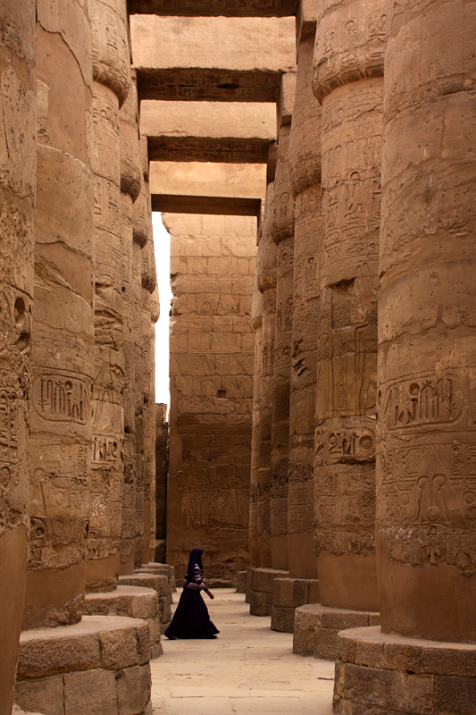 The temple complex at Luxor