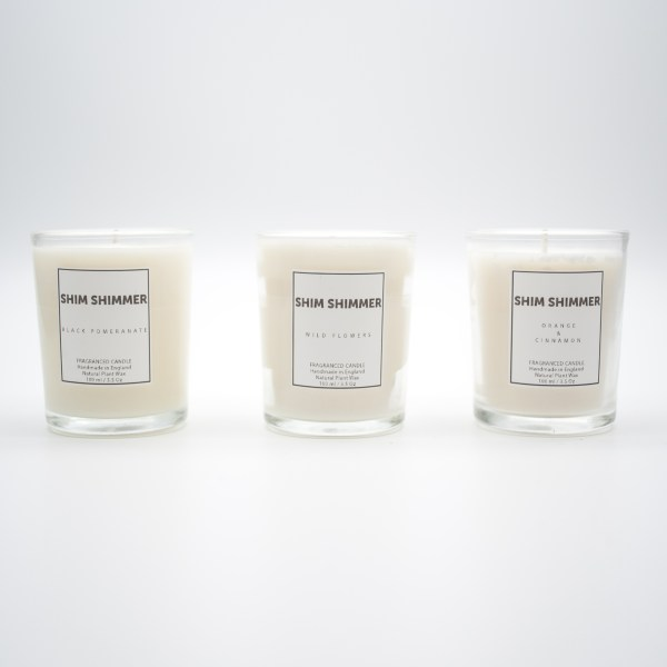 candle gift set handmade in england shim shimmer luxury scented candles and gifts black pomegranate wild flowers