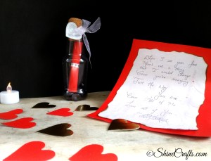 Message In a Bottle Valentines Day Craft