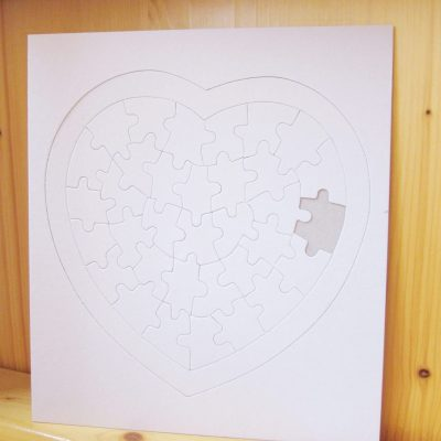 blank jigsaw big heart