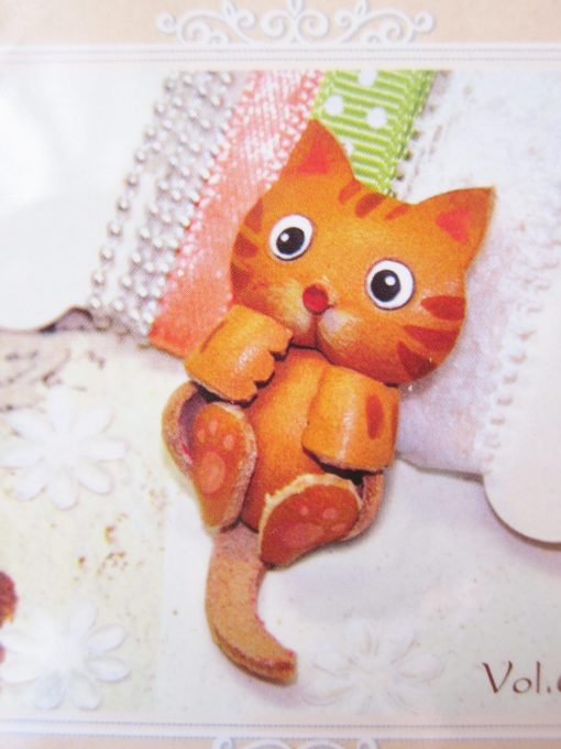 diy leather keyring cat