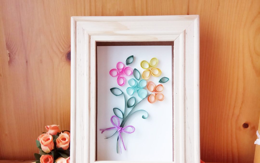 My First Quilling Project: Flowers for Mother's Day
