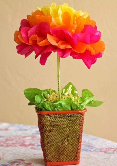 Easy Paper Flowers Crafts – 7 Materials 20 Ideas