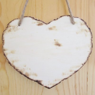 heart wooden sign