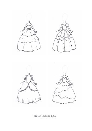 princess dress coloring