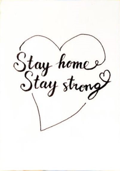 Free Printable Positive Quote – Stay home stay strong