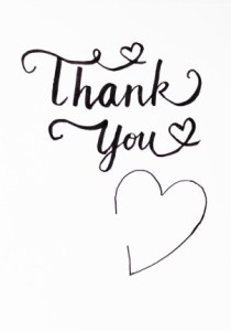 free printable thank you card