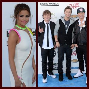 Selena Gomez and Emblem3: 2013 Billboard Music Awards Arrival