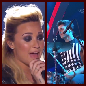 """Watch: Demi Lovato Performs """"Made in the USA"""" at Teen Choice 2013 with Nick Jonas on Drums"""