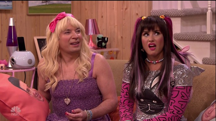 """Demi Lovato Is Giving Us """"Sonny With A Chance"""" Vibes in """"Ew!"""" Sketch with Jimmy Fallon"""