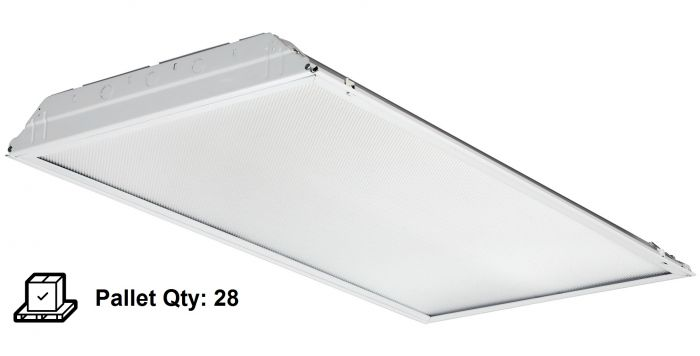 lithonia lighting 2gtl4 a12 120 lp840 39 watt 2x4 led recessed lay in troffer fixture pallet of 28 units