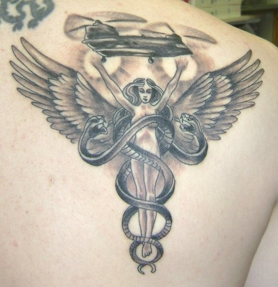 caduceo tattoo