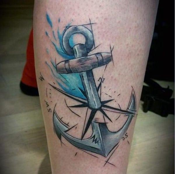 tattoo ancora schizzo