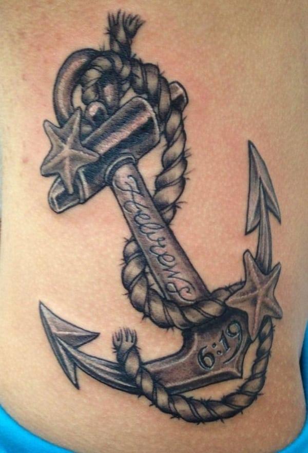tatuaggio ancora cristiano