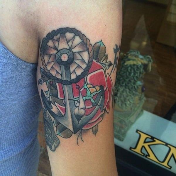 tatuaggio ancora audace
