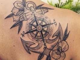 tatuaggio ancora nautico