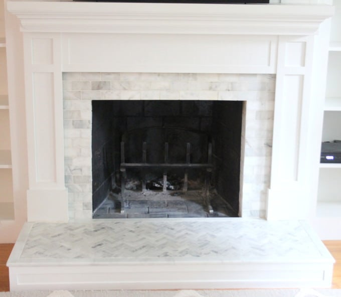 how to tile over a brick hearth shine