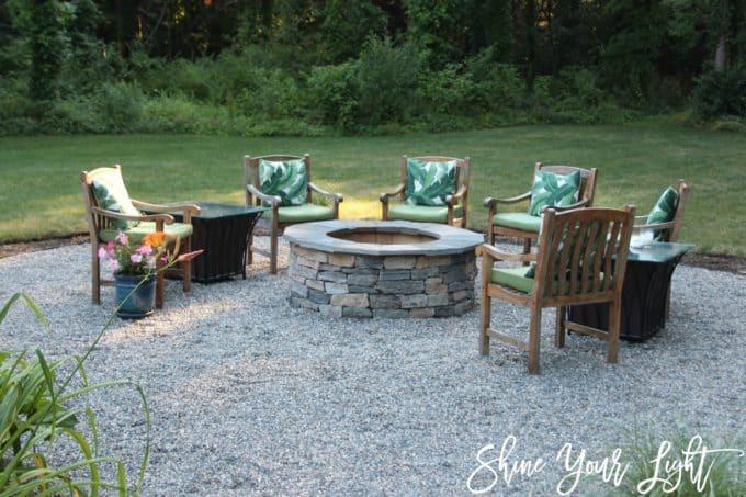 installing a pea stone patio shine