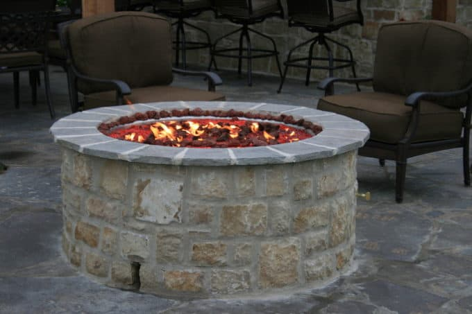 Installing A Capstone The Fire Pit Project Shine Your