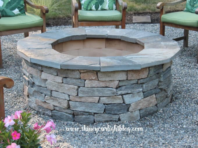 how to diy a fire pit pea stone patio
