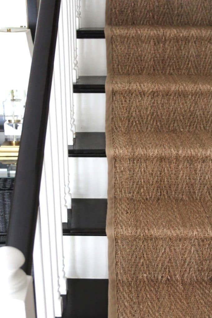 How To Install A Seagrass Stair Runner Shine Your Light   Felt Back Carpet On Stairs   Stair Treads   Loop Feltback   Rolls Flecked   Purple   Flooring
