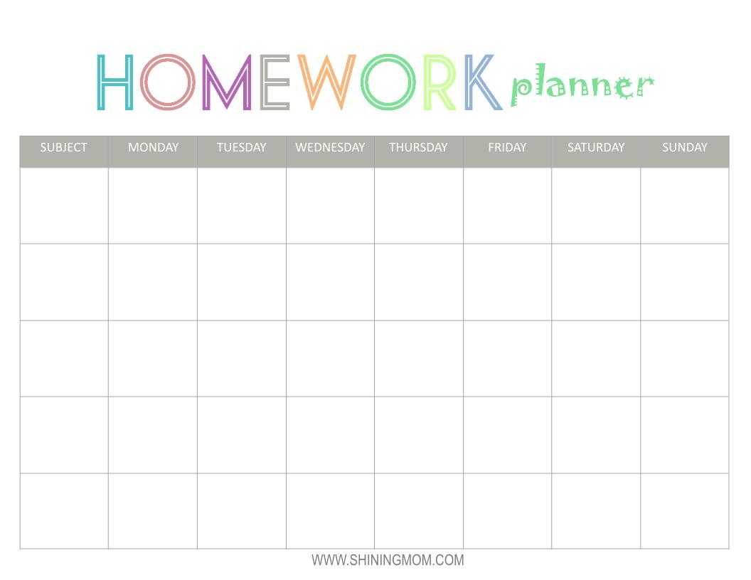 Planner Homework Order Paper Cheap