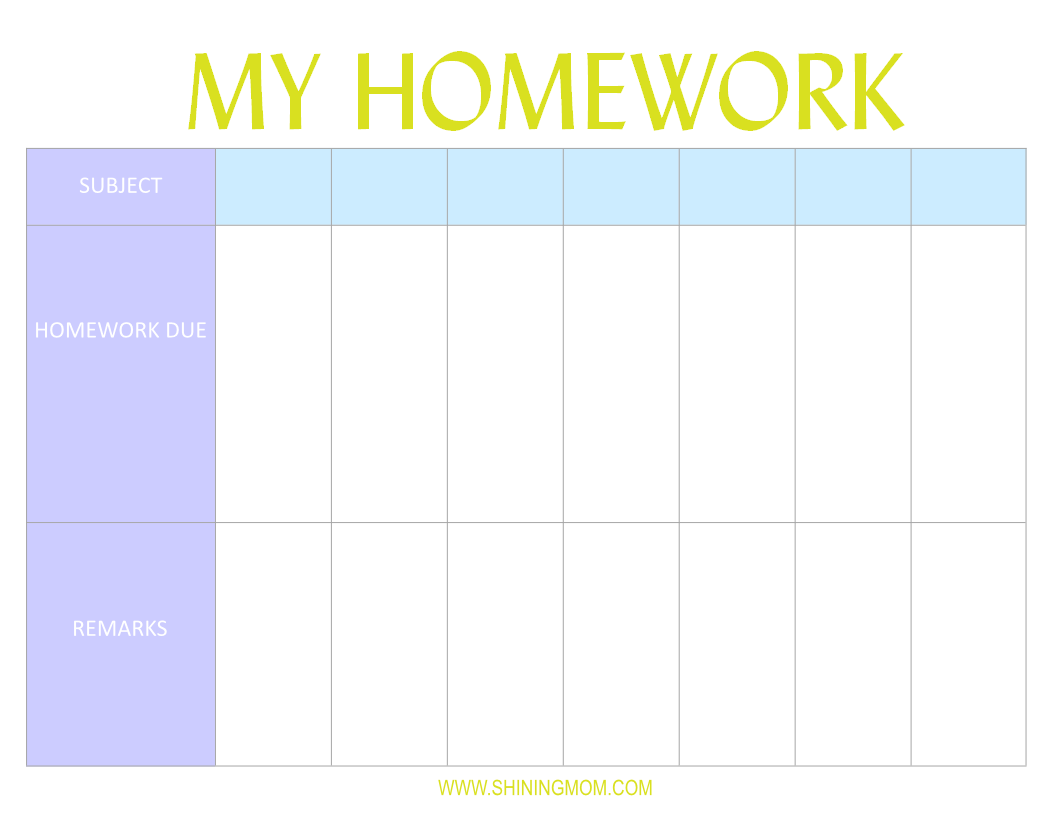 Buy homework planner for Planner co