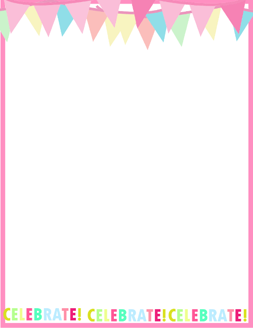 fresh designs birthday borders for invitations and more