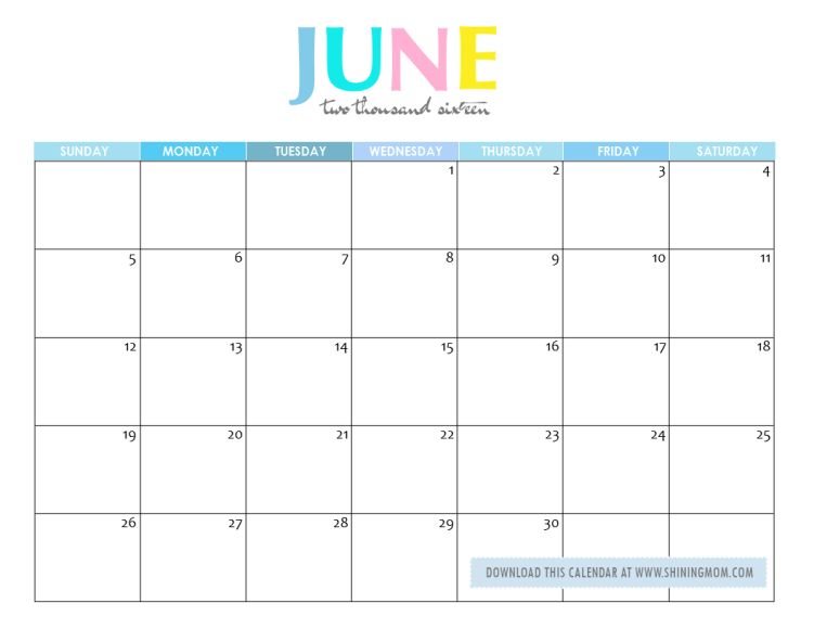 Calendar Week June : Free printable your lovely calendars