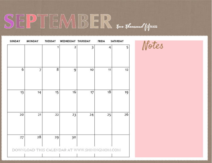 All Lovely 10 Free Calendars For September 2015. Weekly Expense Report Template Free Template. Printable Perfect Attendance Award Template. Sample Resume Hospitality Industry Template. 24 Hour Employee Schedule Template. Letter To Parents From Student Teacher Template. What Is An Example Of A Cover Letter Template. Thank You Cards For Bridal Showers Template. Resume Templates For No Experience Template