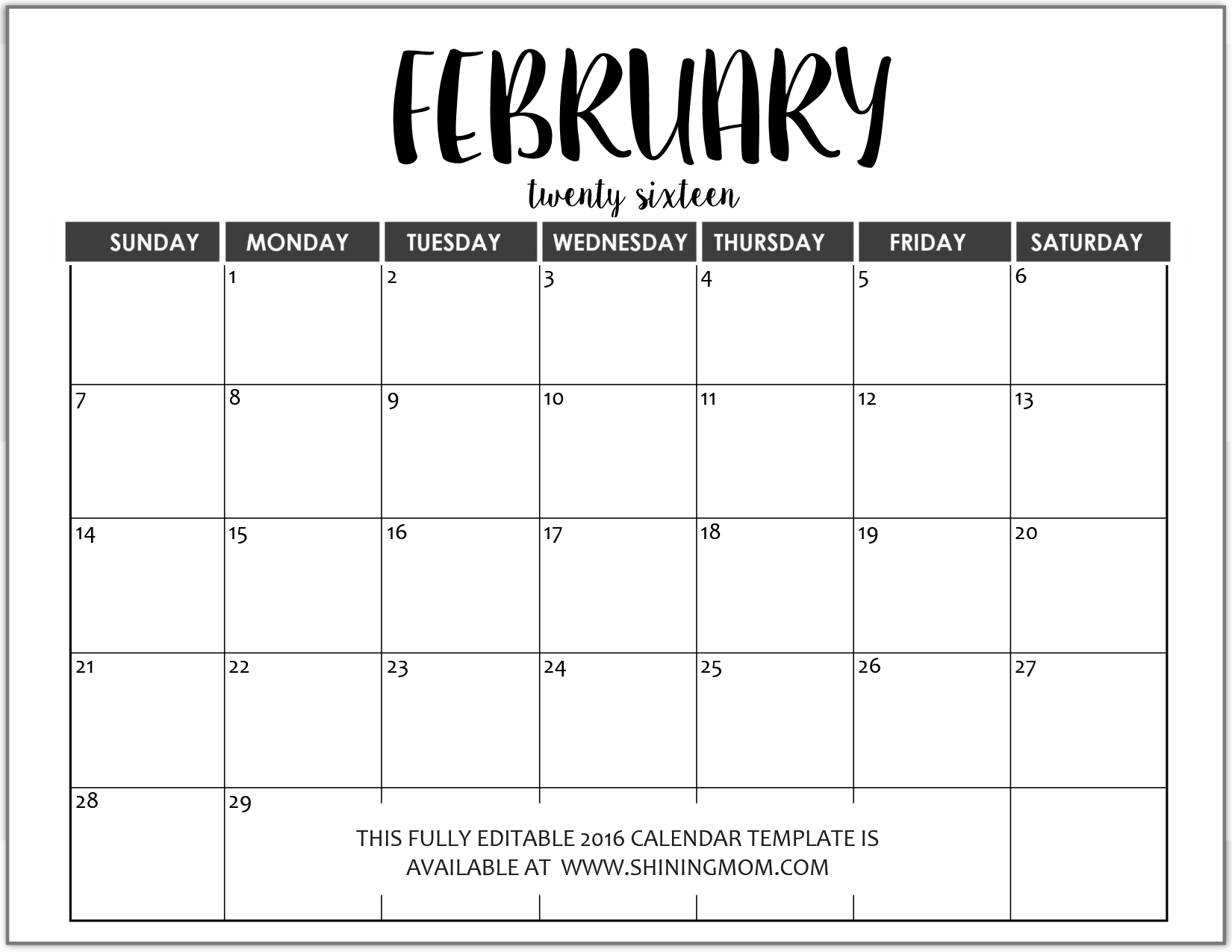 Just In Fully Editable Calendar Templates In Ms Word Format