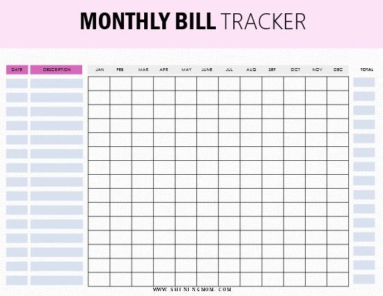 Budget Budget Mom Printable