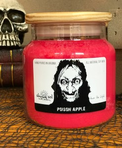 Poison Apple Halloween Candle