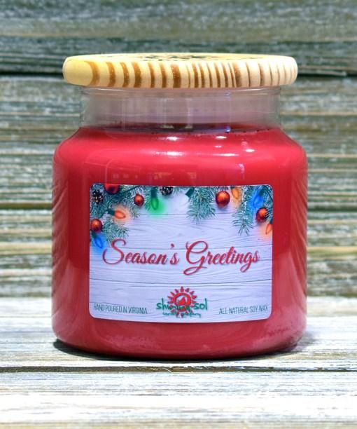 Season's Greetings - Large Candle