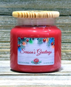 Season's Greetings - Large Candle