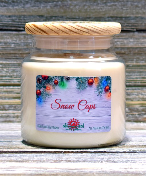 Snow Caps - Large Candle