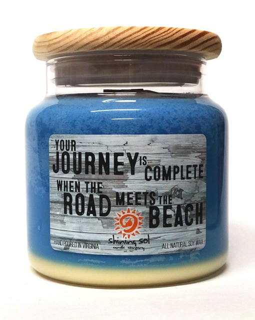 Journey and the Beach - Blue - Large Jar
