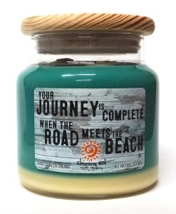 Journey and the Beach - Teal - Large Jar