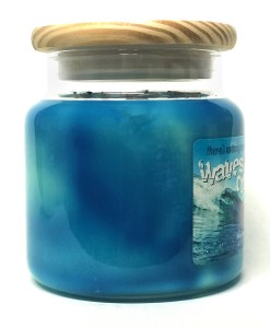 Waves Crashing - Large Jar Candle Side