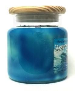 Waves Crashing - Large Jar Candle Side
