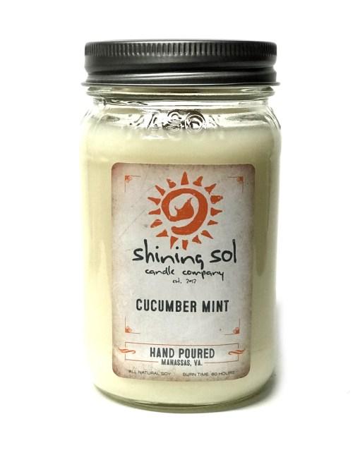 Cucumber Mint - Mason Jar Candle
