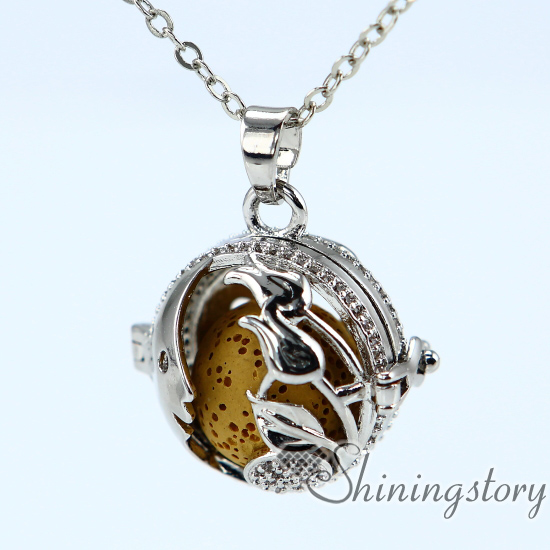 Heart Locket Necklace Diffuser Necklace Wholesale Silver