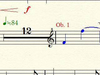 長休符が音部記号にぶつかってしまっている例